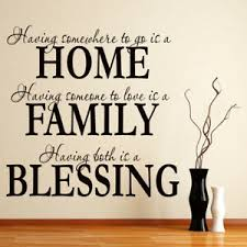 Home Family Blessing Family Quote Wall Decal Sticker Ws 15945 Ebay