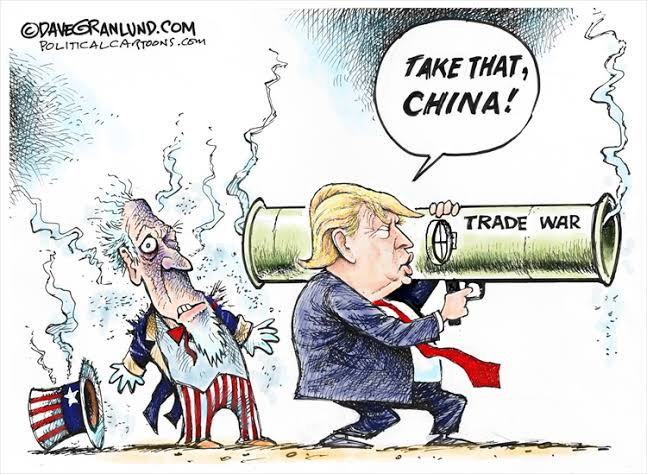 Image result for Cartoons of the China/US Trade Deal""