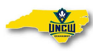 North Carolina Wilmington Seahawks Uncw Vinyl Decal Ncaa State Shaped Sticker Ebay