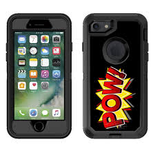 Skin Decal For Otterbox Defender Apple Iphone 8 Case Pow Comic Book On Black Decal Not A Case Walmart Com Walmart Com