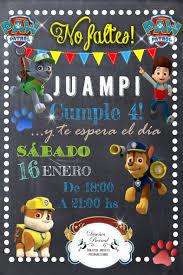 Invitacion Digital Para Whatsapp Grafica Disenos Bernal Invitaciones Digitales Tarjetas De Invitacion Invitacion Cumpleanos Patrulla Canina