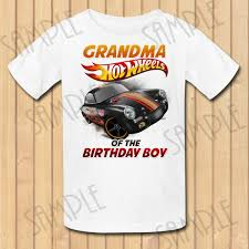 Hot Wheels Grandma Of The Bithday Boy Instant Download Custom Etsy