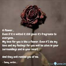 a flower even if it is quotes writings by tanay gandre