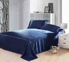 dark blue bedding set silk satin super