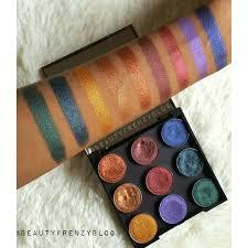 makeup geek foiled eyeshadow swatches