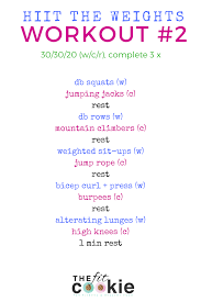 hiit the weights full body workout 2