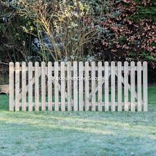 Pair Of Wooden Picket Gates Buy Gates Online Uk Delivery