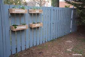 Fence Planters Container Gardening In 2020 Hanging Planters Outdoor Diy Wooden Planters Diy Garden Fence