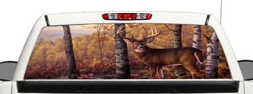 Buy Truck Suv Whitetail Deer Hunting Rear Window Graphic Decal Perforated Vinyl Wrap B3 14x53 In Cheap Price On Alibaba Com