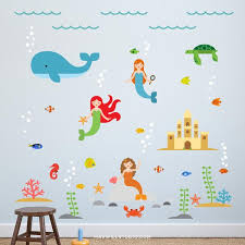 Mermaid Wall Decals Maxwill Studio