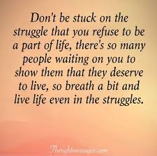 inspirational quotes about life and struggles the right messages