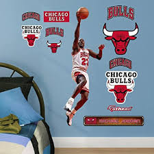Amazon Com Fathead Peel And Stick Decals Fathead Nba Chicago Bulls Michael Jordan Layup Fathead Jr Large Officially Licensed Nba Removable Wall Decal 15 17021 Sports Outdoors
