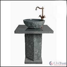 round floor standing pedestal bathroom