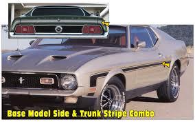 824 1971 73 Ford Mustang Mach 1 Or Boss Ram Air Decal Set Choose