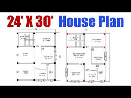 24 x 30 feet house plan घर क नक स