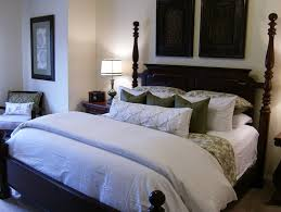 white and green bedding traditional