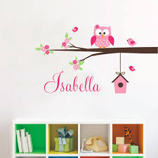 New Arrival Coral Gray Personalized Sweet Owl Branch Birdhouse Name Thenordictradingco Com