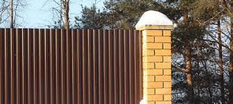 corrugated metal for a fence