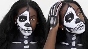 zipper face skull makeup saubhaya makeup