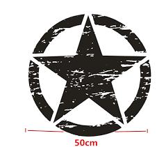 Vinyl Black Car Stiker Distressed Army Military Star Hood Decal 50x50cm Washable Ebay