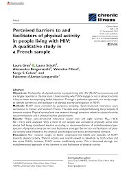 pdf perceived barriers to and facilitators of physical activity