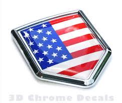 Car Truck Emblems Pair 3d Metal Usa American Flag Car Fender Emblem New Badge Decal Sticker Motors Memelioinkaras Lt