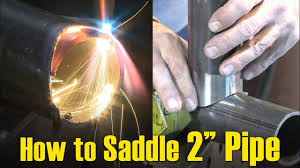 How To Saddle Small Diameter 2 Pipe W Oxy Fuel Cutting Youtube