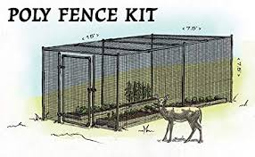 Amazon Com Deer Protection Enclosure Fencing That Offers Protection From Deer And Peace Of Mind For Home Gardens Steel Hex Web Garden Fence Kit With Top 7 5 X 15 Life Expectancy Of