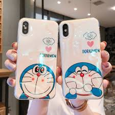 Cute Doraemon iPhone Cases For Couples In Silicone