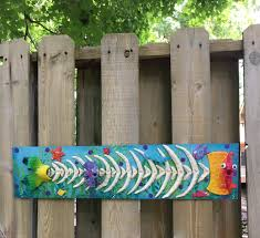 Fishbone Wall Sculpture Fence Decoration Patio Decor Yard Art Perfect Wall Or Privacy Fence Accent Pool Decor Beach Theme Ocean Art