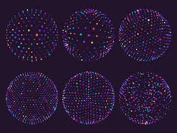 Des Sphères Colorées De La Science Des Atomes D'orbes Ou De Particules En  Orbite. | Vecteur Premium
