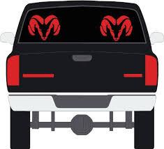 Dodge Ram Red Rear Window Decals Set Of Buy Online In Jersey At Desertcart