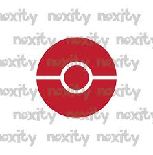 5 Inch Pokeball Vinyl Decal 2 Sold By Noxity Delucora On Storenvy