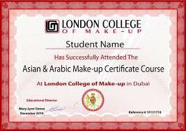 arabic make up certificate course in dubai