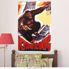 King Kong On Building Wall Decal At Retro Planet