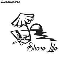 Langru Shore Life Vinyl Sticker Decal Florida Beach Lily Salt Ocean Car Accessories Jdm Car Stickers Aliexpress