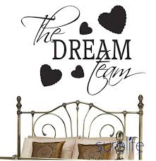Vinyl The Dream Team Version Wall Quote Wall Decal Wallpaper Home Deco Ellaseal