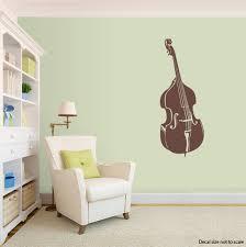 Double Bass Wall Decal Upright Bass Silhouette Sticker