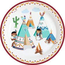 8 Platos Tipi Tomahawk Para Cumpleanos Infantiles Y Fiestas