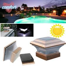 4x4 Home Garden Solar Copper Post Deck Cap Square Fence Light Plastic Led 28lm Shopee Philippines