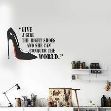 Marilyn Monroe Wall Decal Stickers Quote Shoe Bananastronaut