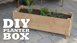 how to build a planter box you