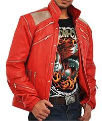 vintage 80s classic red leather jacket