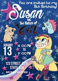 Star Vs The Forces Of Evil Birthday Invitation Invitacion