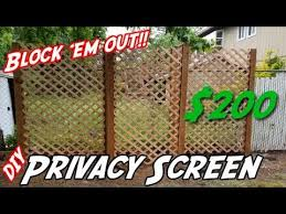 How To Build A Privacy Wall Diy Privacy Screen Diy Lattice Privacy Wall Youtube