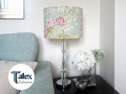 lamp shade duck egg blue drum lampshade