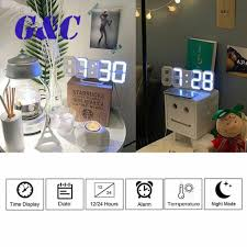 large 3d modern digital led wall clock