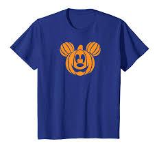 Amazon.com: Disney Mickey Mouse Halloween Pumpkin head T-shirt ...