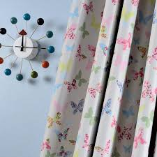 Pink Butterfly Printed Blackout Curtains For Living Room Cartoon Drapes For Girls Kids Room Window Treatments Custom Size Curtains Aliexpress