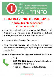 AUSL Romagna - In caso di sintomi sospetti di contagio da Covid-19